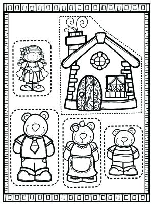 300x400 And Three Bears Coloring Pages Coloring Pages Put