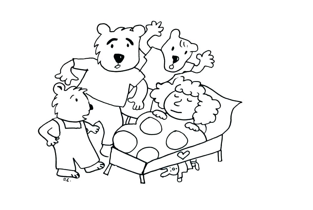 1024x689 Berenstain Bears Coloring Pages Three Bears Coloring Pages