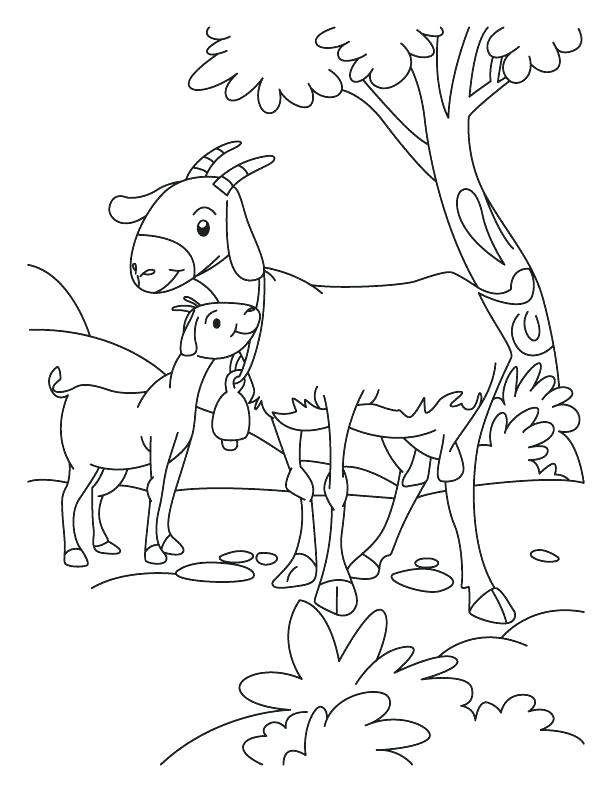 612x792 Goat Coloring Pages Three Billy Goats Gruff Coloring Pages Free
