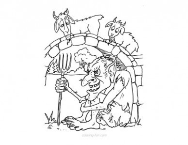 388x299 Three Billy Goats Gruff Coloring Pages Just