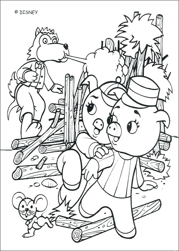 607x850 The Three Little Pigs Coloring Pages Three Billy Goats Gruff
