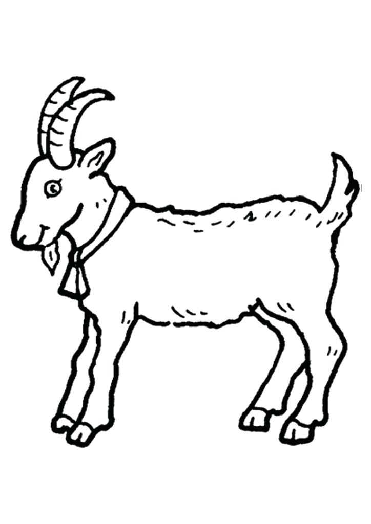 724x1024 Three Billy Goats Gruff Coloring Pages Coloring Sheet Goat Goat