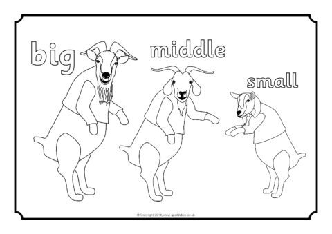 480x339 Three Billy Goats Gruff Colouring Sheets