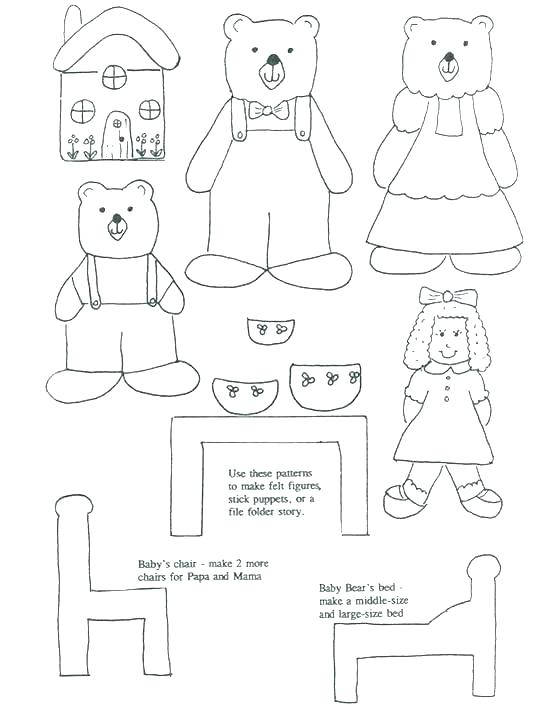 540x724 Goldilocks Coloring Pages Free Printable Coloring Pages Three