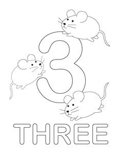 238x320 Number Coloring Page