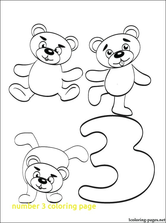 560x750 Number Coloring Page With Coloring Pages Number Three