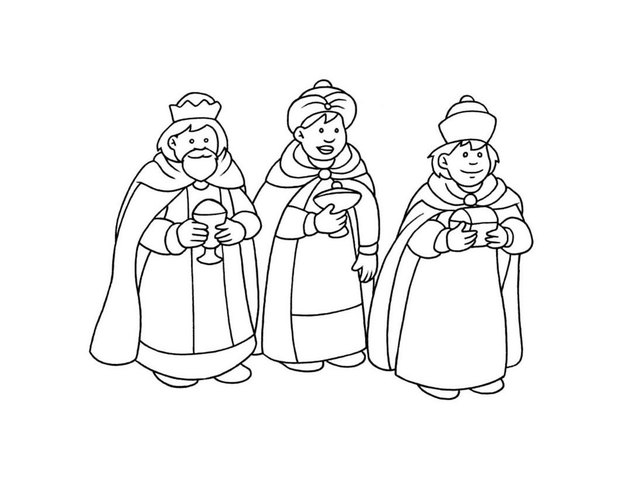 620x480 Three Kings Day Celebration Coloring Pages