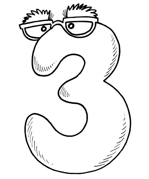 500x600 Number Coloring Page Mr Number Coloring Pages For Kids Free