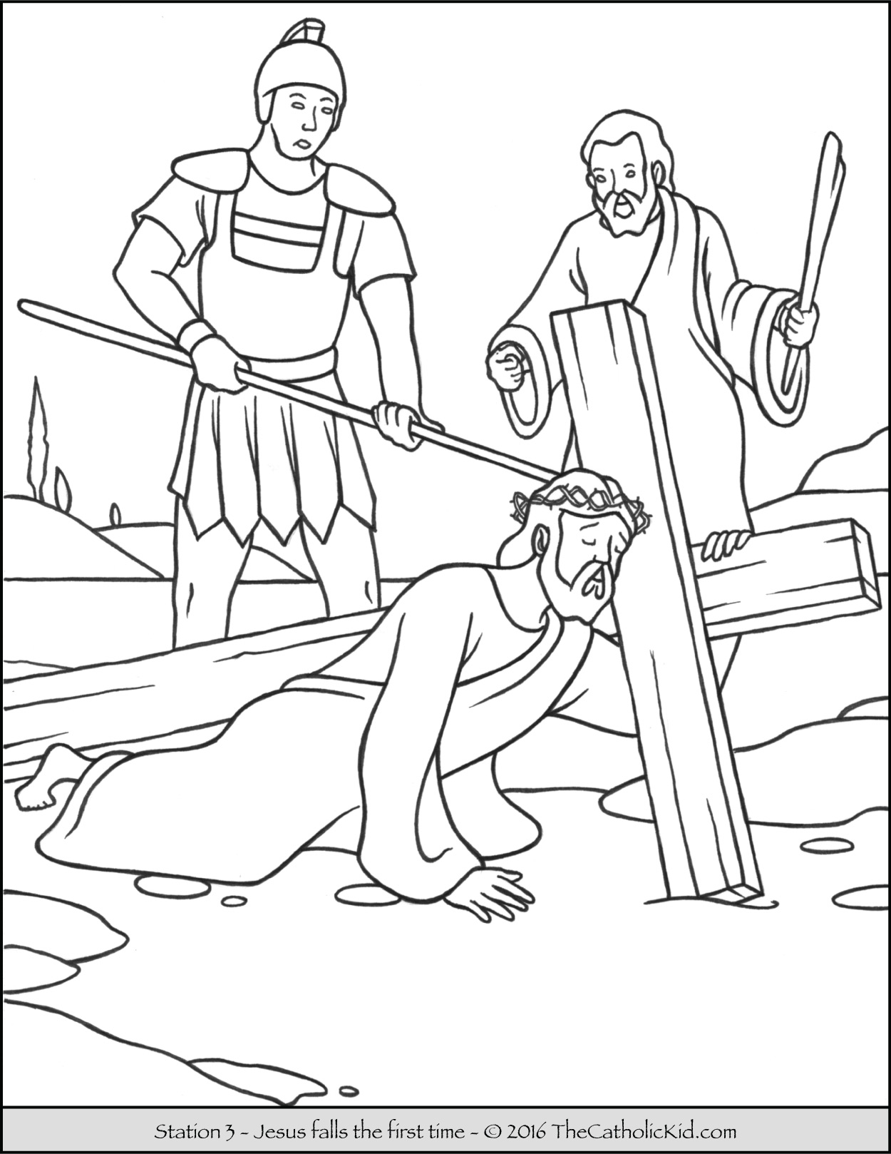 Three Crosses Coloring Pages at GetDrawings.com | Free for ...