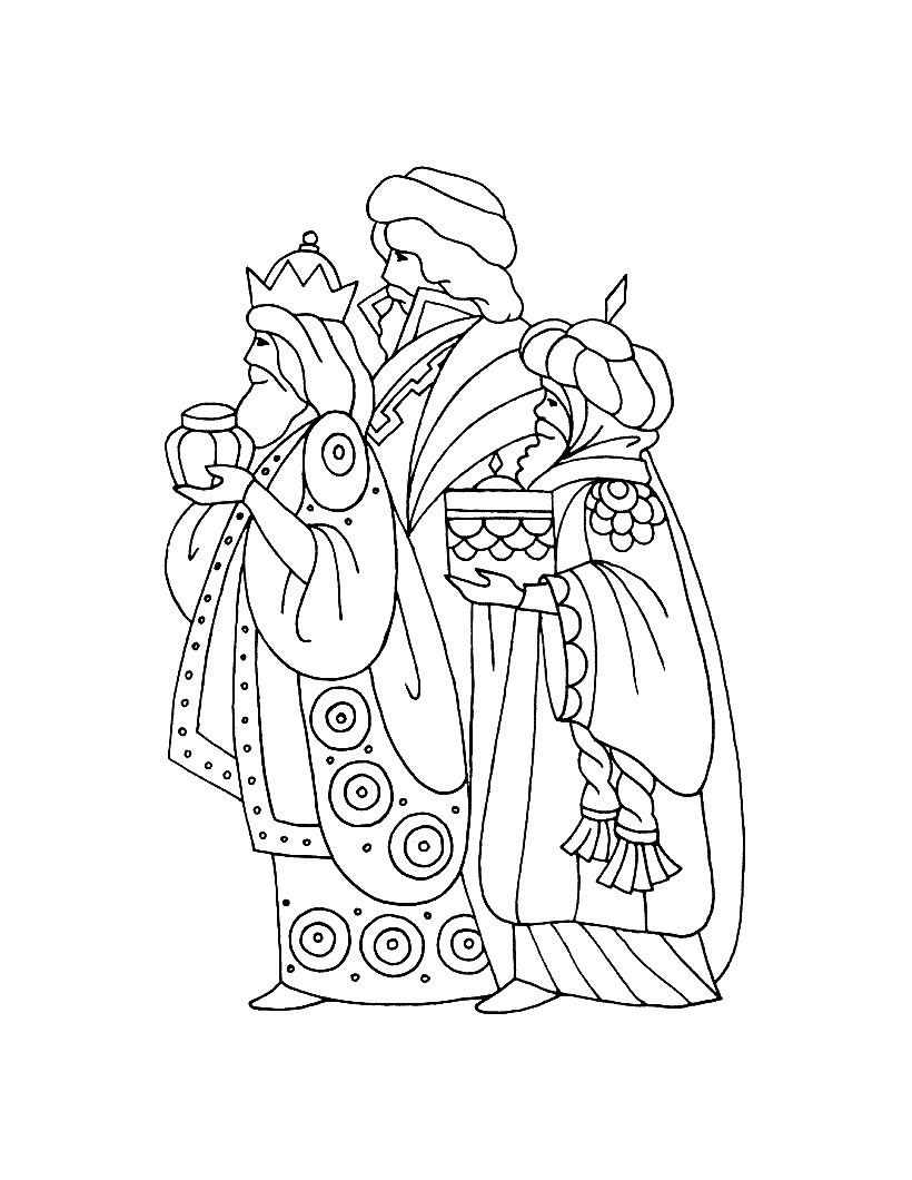 820x1060 Three Kings Coloring Page Caspar, Melchior And Balthasar