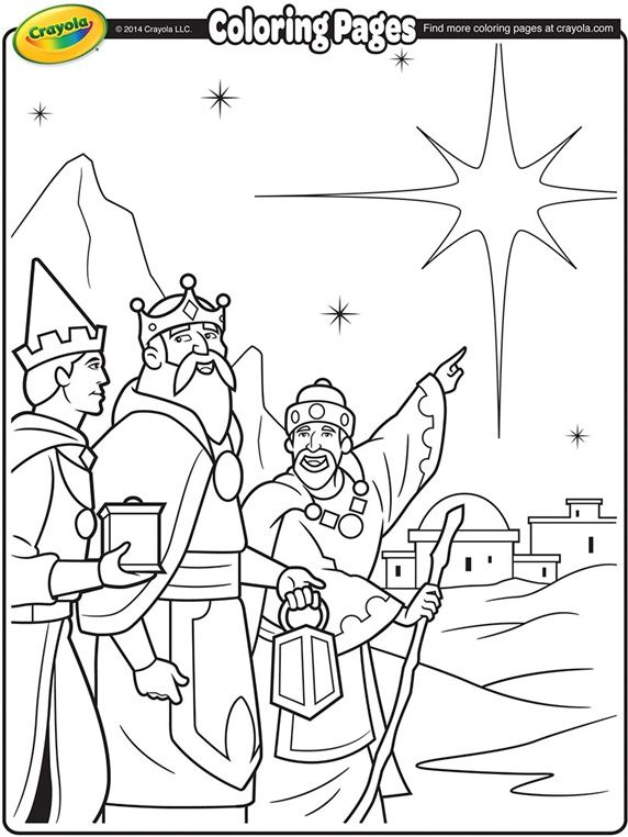 572x762 Christmas Coloring Page We Three Kings Fun For The Kids To Color