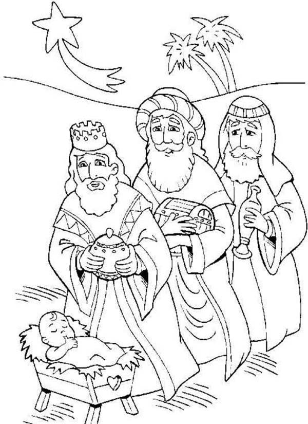 600x825 Three Kings And Baby Jesus Coloring Pages Batch Coloring
