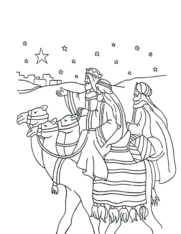 Three Kings Coloring Pages At Getdrawings Com Free For Personal