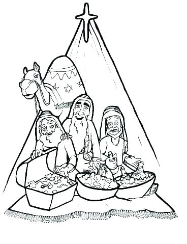 368x479 Wise Men Coloring Page Wise Men Coloring Pages The Wise Man