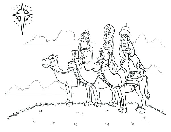 600x464 Three Wise Men Coloring Pages