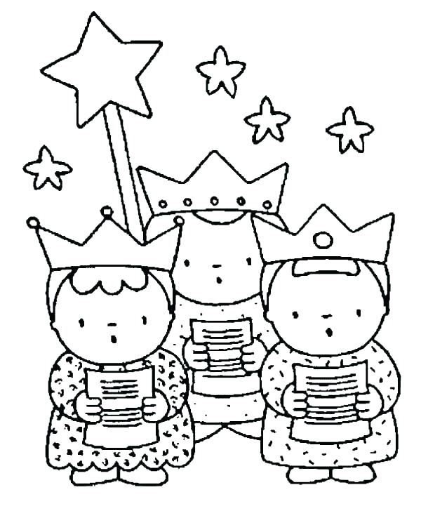600x738 Three Wise Men Coloring Pages Vanda