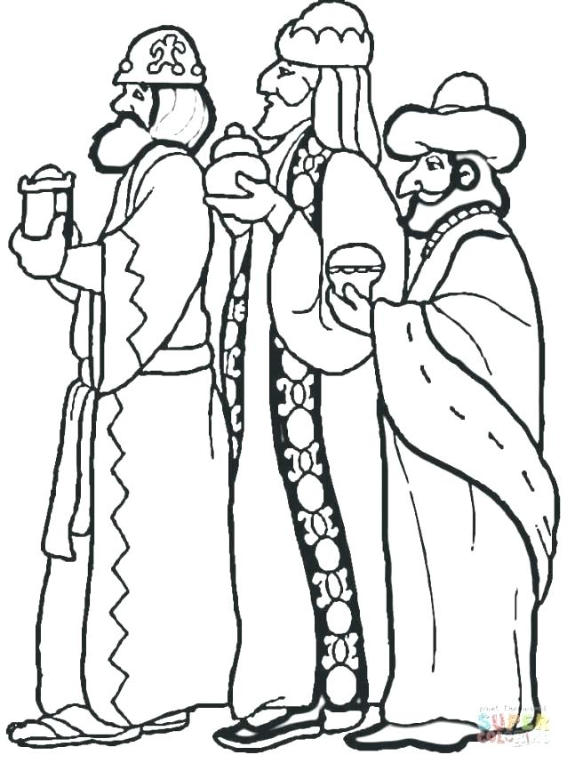 638x858 La Kings Colouring Pages Three Wise Men Coloring Page Free