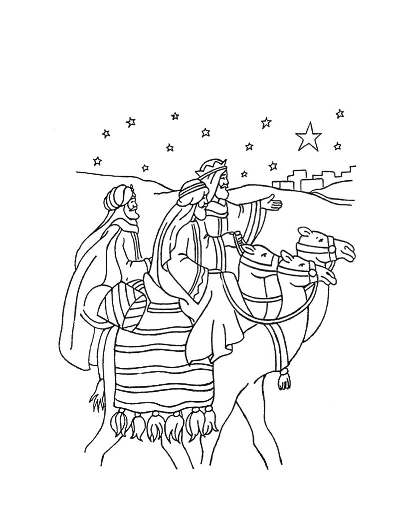820x1060 The Journey Of The Three Wise Men Coloring Pages