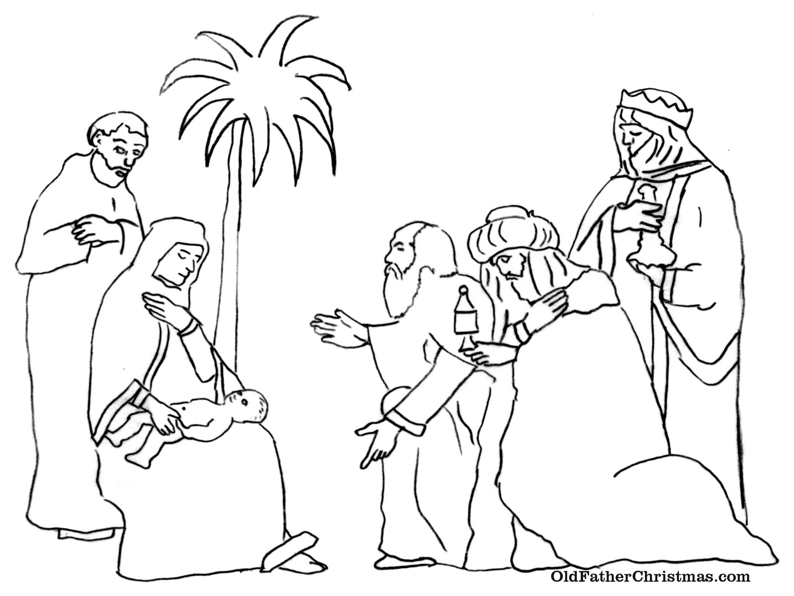 1600x1201 Three Kings Day Coloring Pages