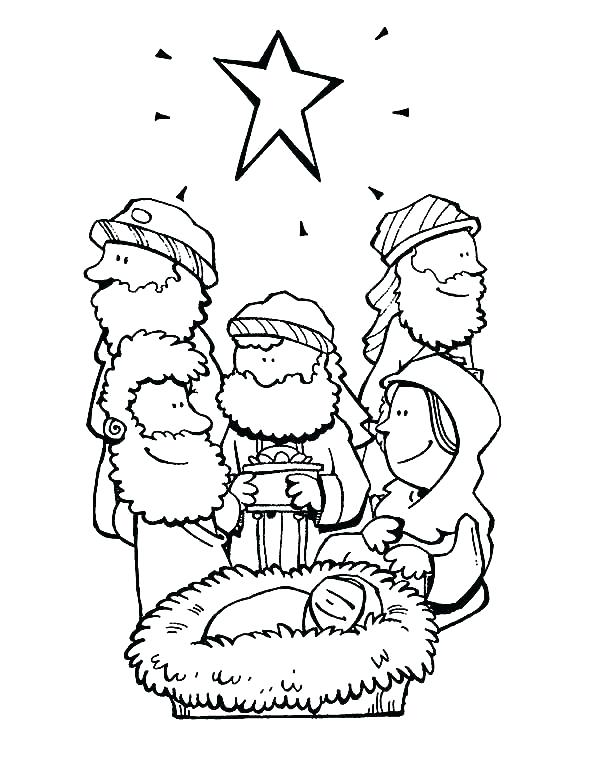 600x776 Three Wise Men Coloring Pages Print This Three Kings Coloring Page