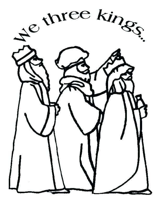 600x761 Three Kings Coloring Pages
