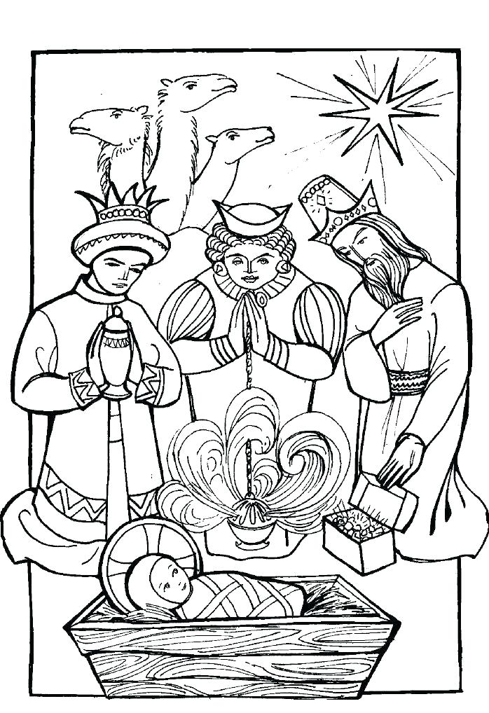 698x1018 Three Kings Coloring Pages Grandmaman Site