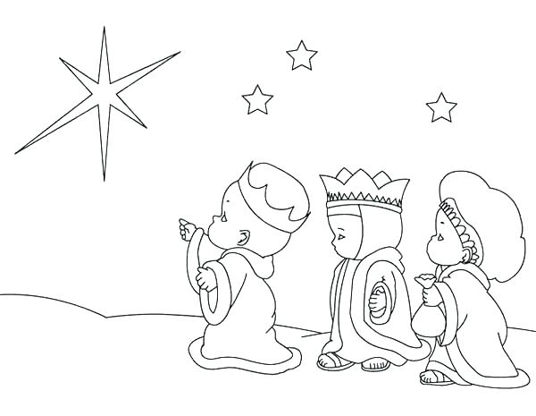 600x465 Three Kings Coloring Pages