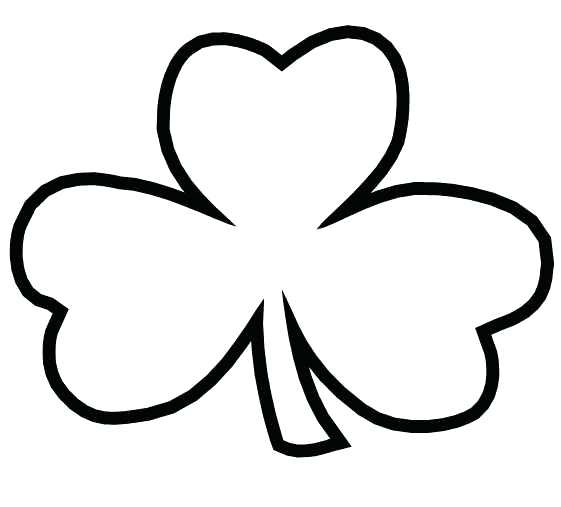 561x507 Coloring Pages Shamrocks Shamrock Page Trinity On The Irish Called