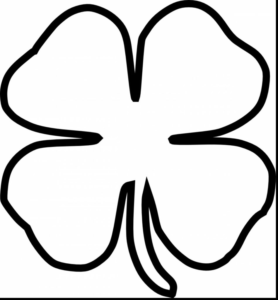 949x1024 Four Leaf Clover Coloring Page Clipart Best Body Modification