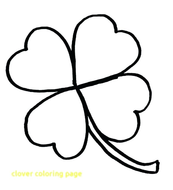 Three Leaf Clover Coloring Pages At Getdrawings Com Free For