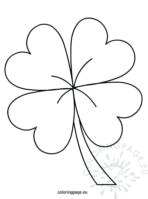 595x804 Four Leaf Clover Coloring Page Four Leaf Clover Coloring Three