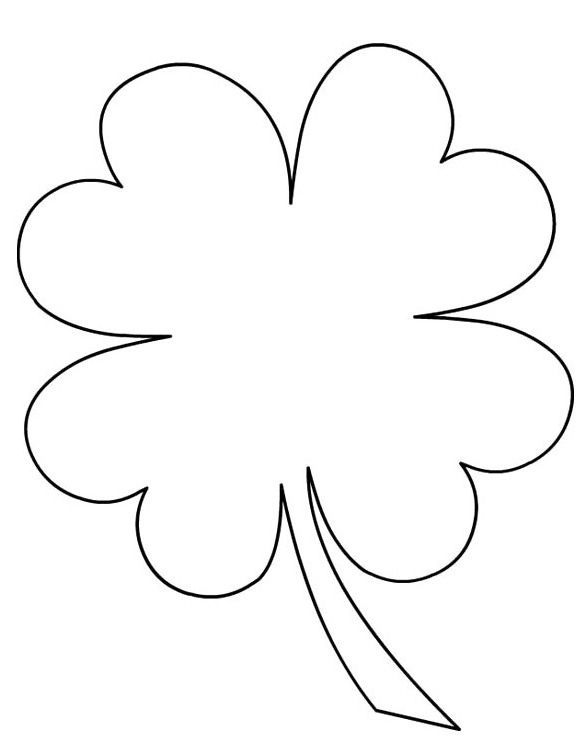 585x751 Four Leaf Clover Coloring Pages