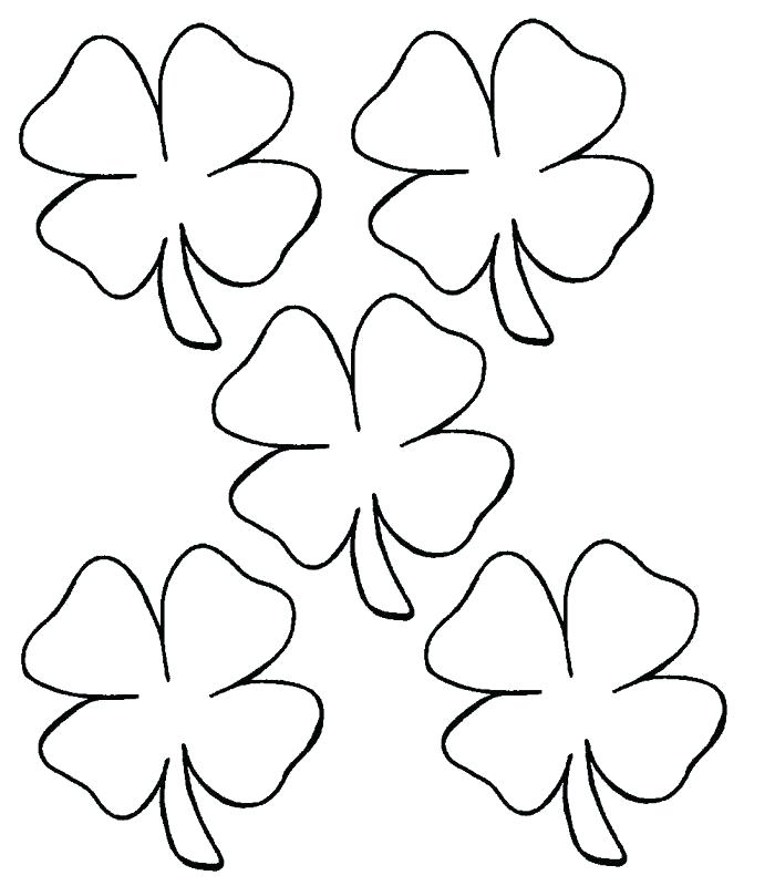 700x800 Four Leaf Clover Coloring Pages Three Leaf Clover Coloring Page