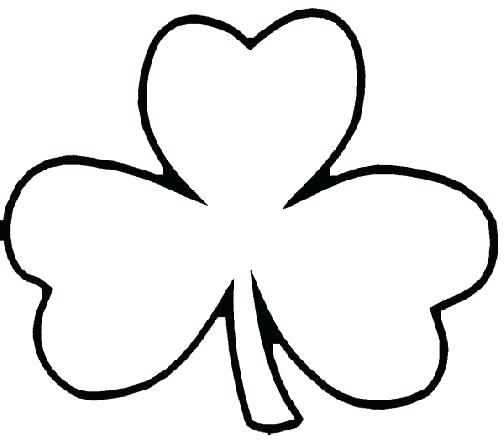 504x441 Shamrock Coloring Page Clover Coloring Pages Shamrock Coloring