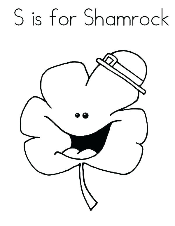 600x776 Shamrock Coloring Page Four Leaf Clover Coloring Page Shamrocks