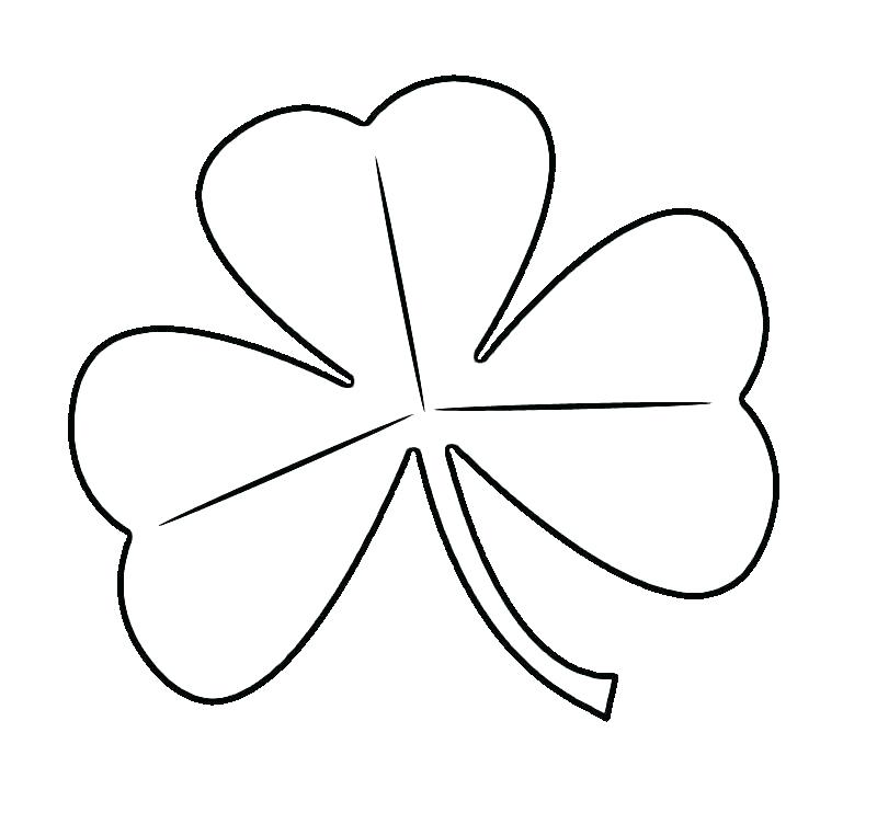 800x752 Template For Three Leaf Clover Printable Coloring Leaf Clover