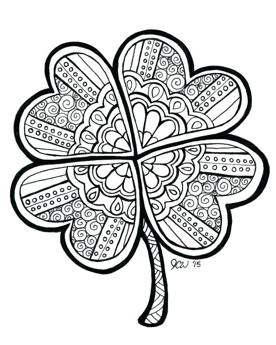 570x713 Three Leaf Clover Coloring Page Here Are Four Leaf Clover Coloring