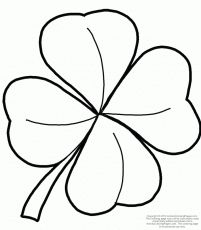 201x230 Three Leaf Clover Outline Free Printable