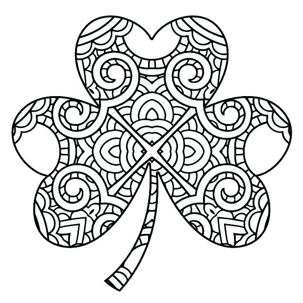 618x618 Clover Coloring Happy Leprechaun With Four Leaf Clover Coloring
