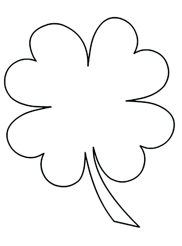 600x808 Clover Coloring Page Kids Drawing Of Four Leaf Clover Coloring