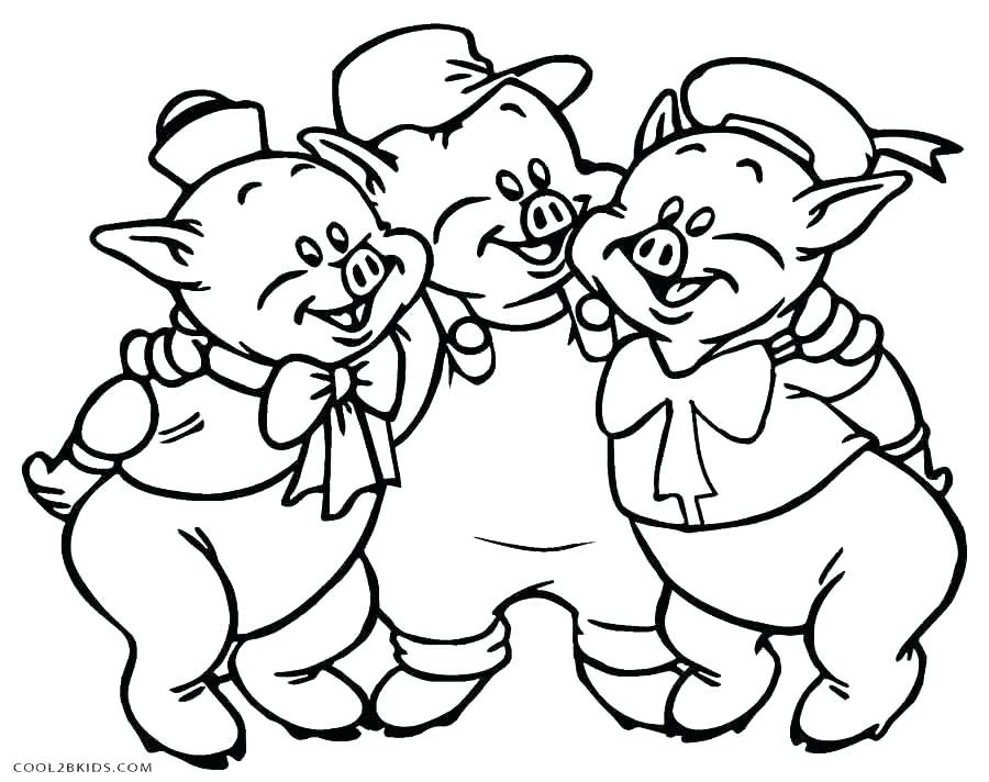 900x712 Coloring Pages Ideal Pig Coloring Es Fee Three Little Pigs