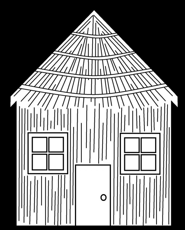 768x955 Coloring Page Straw House Best Of Copy Pages The Three Little Pigs