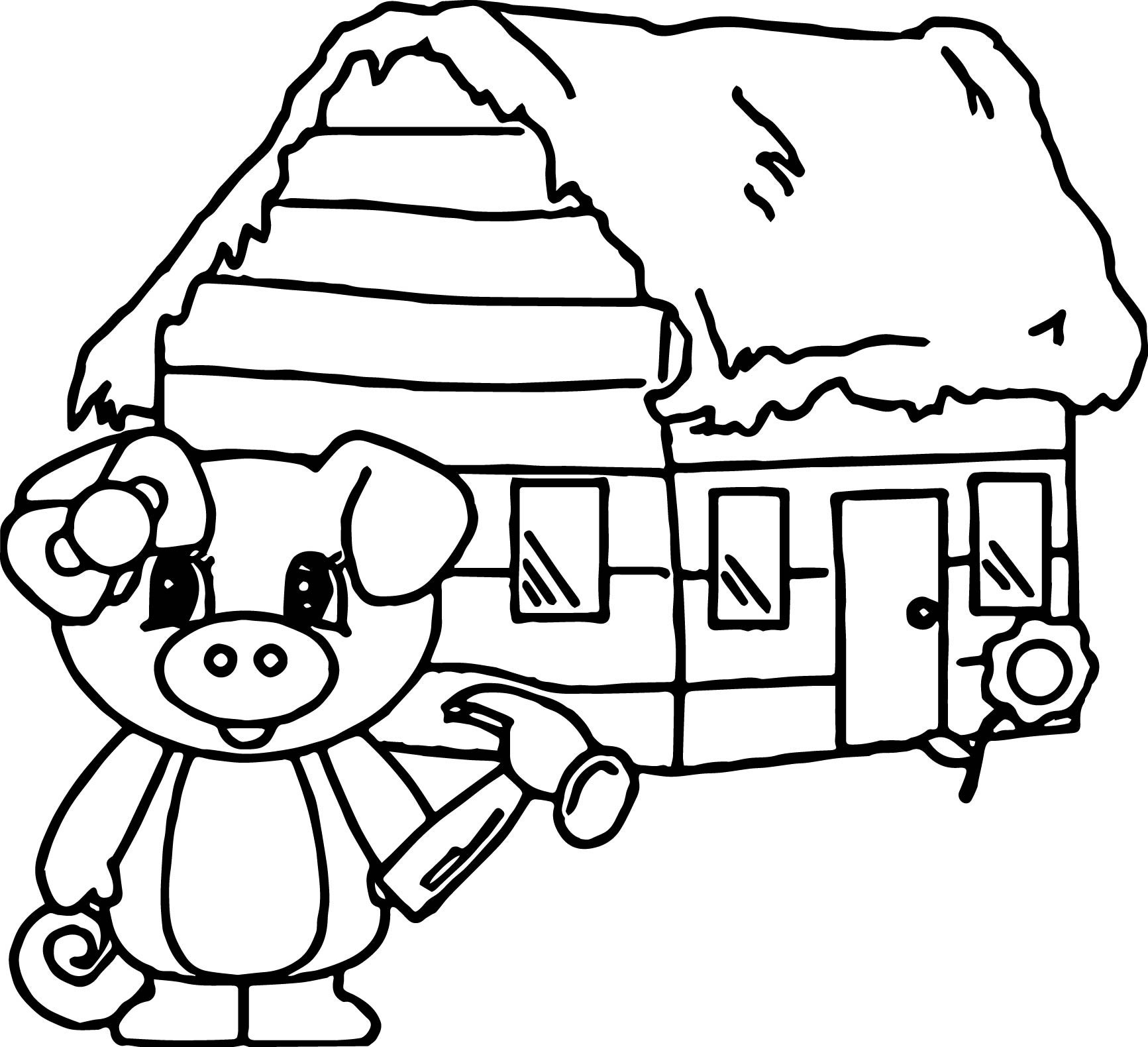 1733x1580 Coloring Page Straw House Three Little Pigs Pages The Story