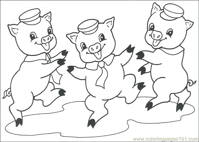 650x464 Coloring Pages For Little Pigs Three Little Pigs Houses Coloring