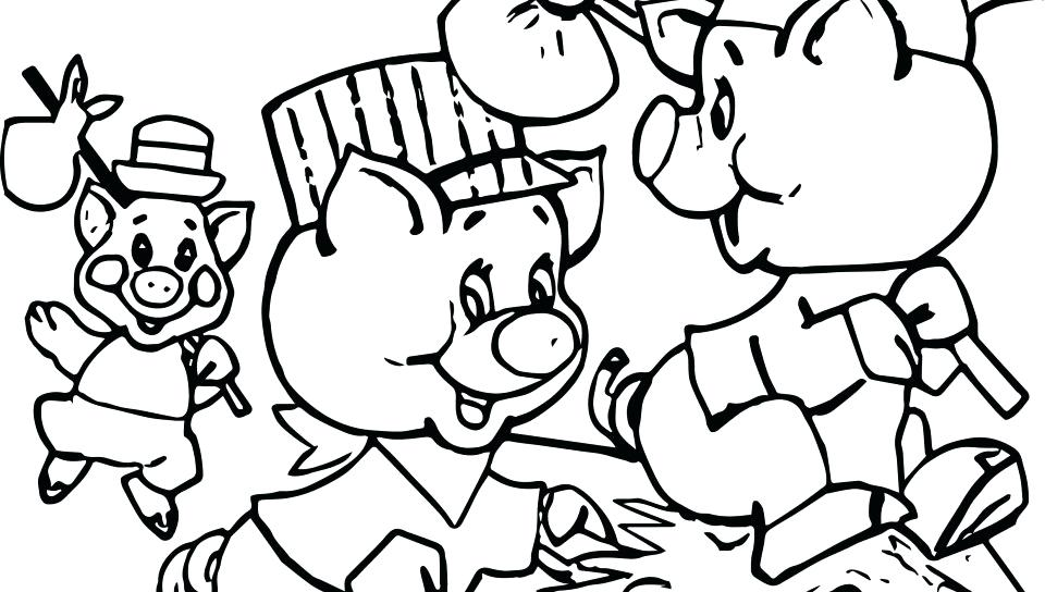 960x544 Three Little Pigs Coloring Pages Little Pigs Coloring Page
