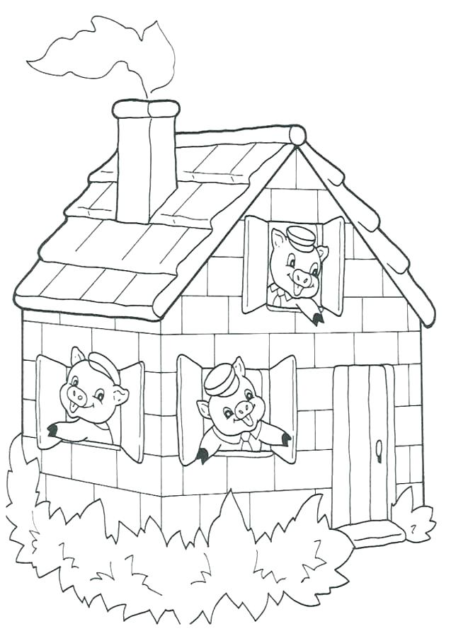 637x892 Three Little Pigs Coloring Pages Little Pigs Coloring Pages
