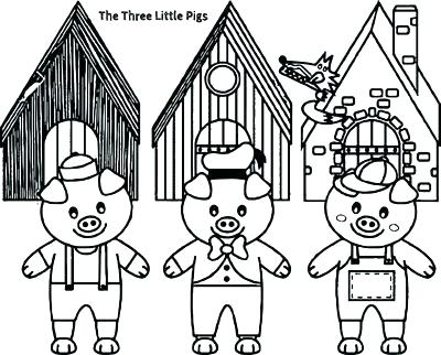 400x322 Three Little Pigs Coloring Pages Little Pigs Coloring Pages