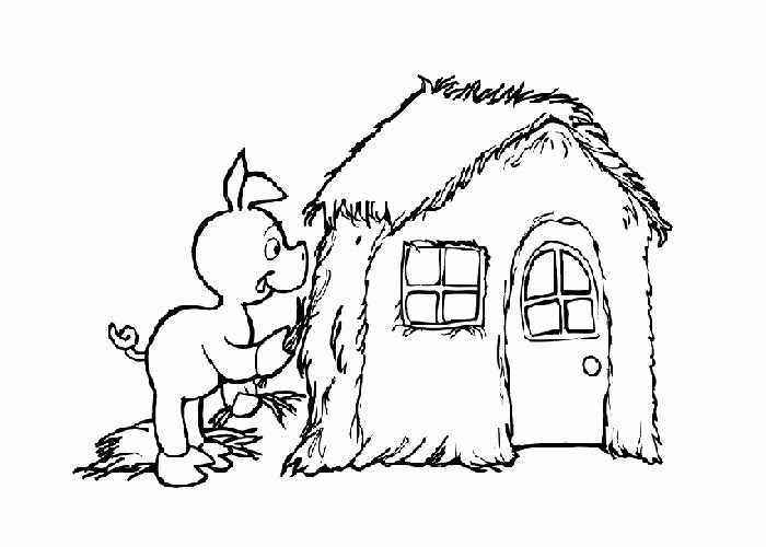 700x500 Three Little Pigs House Coloring Pages Free Coloring Pages
