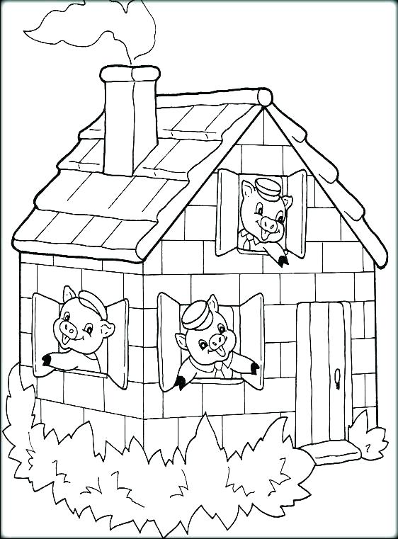 562x761 Peppa Pig House Coloring Pages Professional
