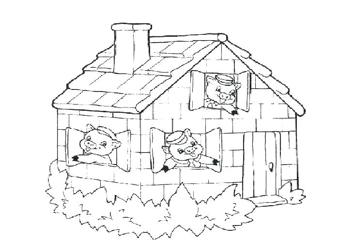700x500 The Three Little Pigs Coloring Pages
